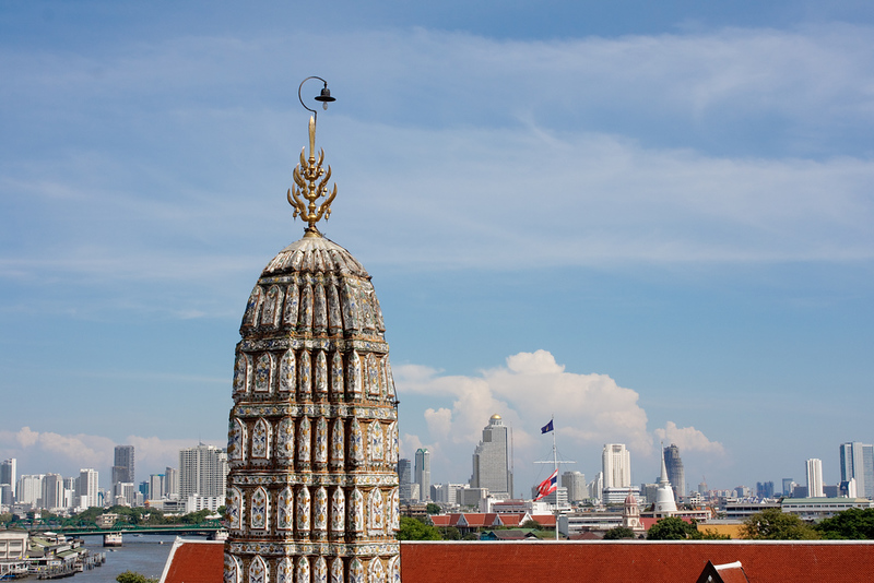 Bangkok skyline from Wat Arun