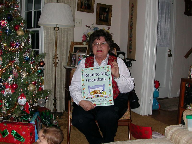 Mom gets a book.