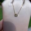.70ct French Cut Diamond Bezel Pendant, 18kt Yellow Gold 16