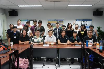 20130820 102學年度逢甲都資系空間資訊組的暑期實習生訪視行程