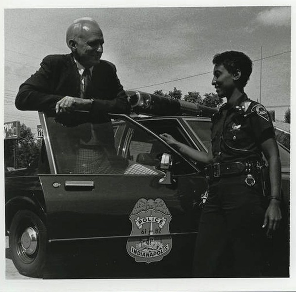 Mayor Hudnut with Police Officer