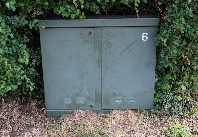 Street cabinet in Spaldwick Cambridgeshire