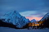 """Twilight Haven"", Mount Engadine Lodge, Kananaskis Country, Alberta, Canada."