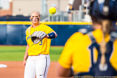 4-18-17 Michigan Softball Vs Michigan State