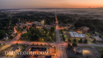 THE SQUARE OF TWINSBURG, OHIO - AUG 11, 2018