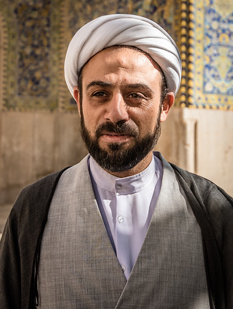Præst i Hasjed-e-Shah moskeen i Esfehan