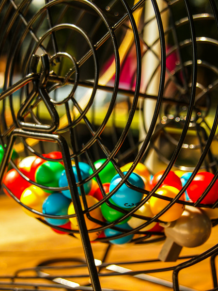 Bingo Balls caged