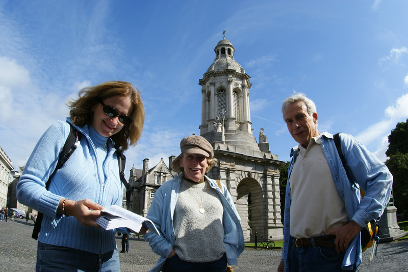 The Attaché came around with the nav skills and got us to Trinity College: Ireland's oldest university