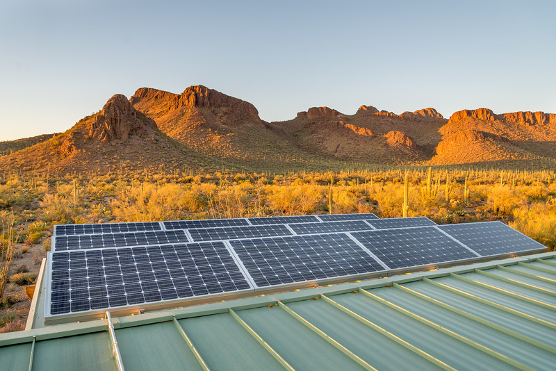 Solar Panels and Panther Peak #1