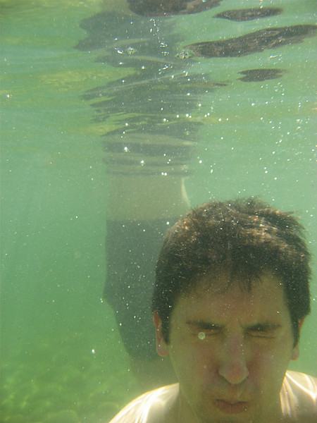 Me underwater - not letting any water get to my contacts!