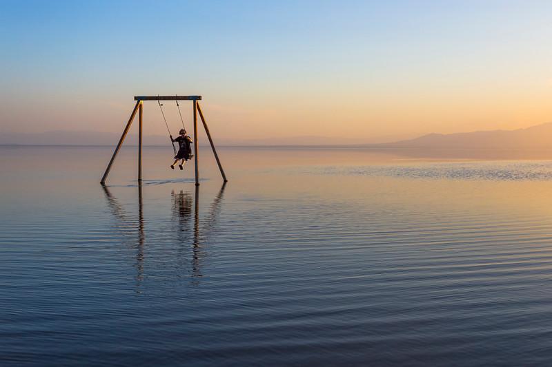 Still Shiny Smooth Silky Salton Sea Saturday Sunset Swinging
