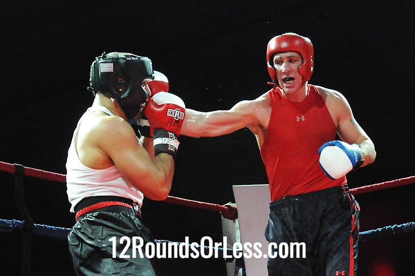 Bout 1 (Ama) Angelo Magnone, Steubenville, OH -vs- Mike Shook, Pittsburgh-  201+ lbs