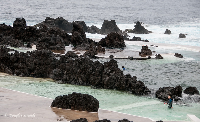 Island of Madeira - swimming pools in a volcanic formation on the North coast