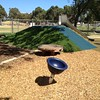 spinner and circular timber seating pallet with stainless steel slide on mound