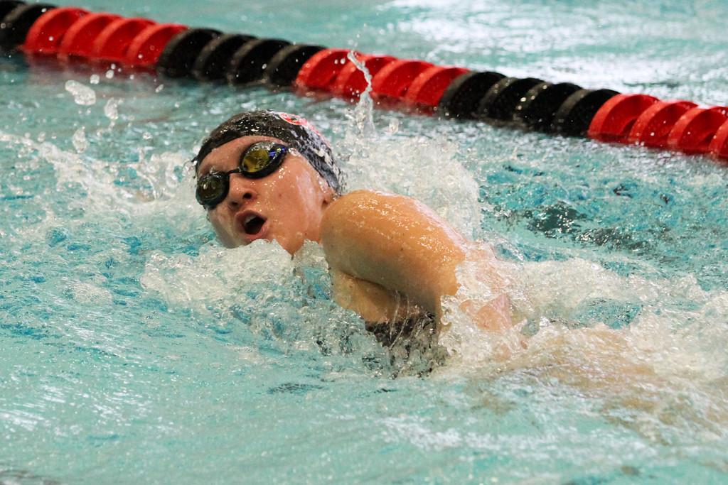 . Barry Booher - The News-Herald Katherine Jerry ( Chardon ) 500 yard freestyle.