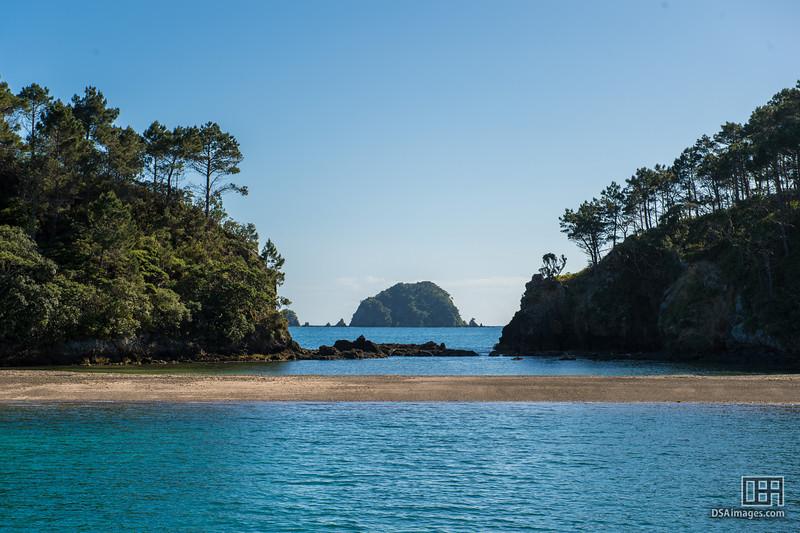 Across Motuarohia Island in the Bay of Islands