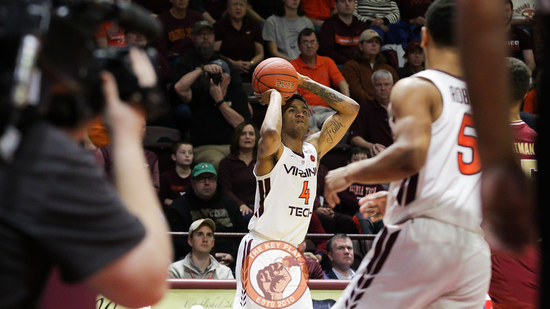 Nickeil Alexander-Walker pulls up for a three point shot in the second half. (Mark Umansky/TheKeyPlay.com)