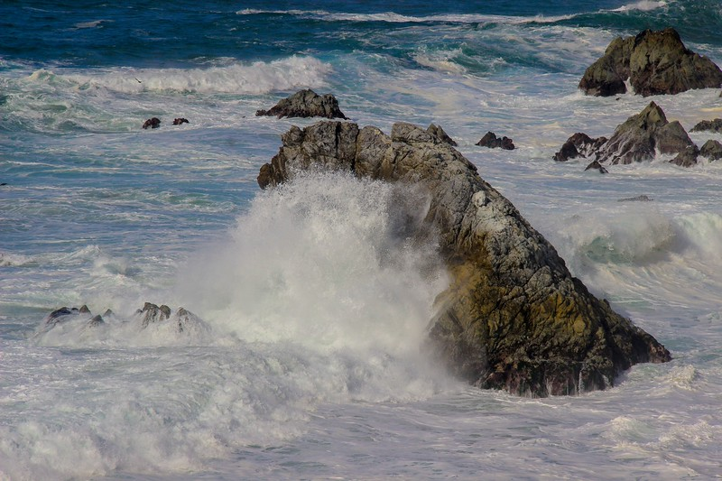 I never get tired of watching the waves crash into the rocks along the California Big Sur Coast. The noise is impressive.