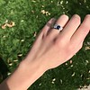 1.55ctw Old Mine Cut and Sapphire Gypsy Ring, GIA 6
