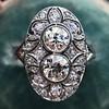 1.75ctw Edwardian Toi et Moi Old European Cut Diamond Ring  12