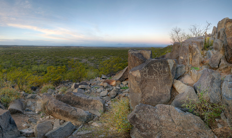 Petroglyph At Sunrise