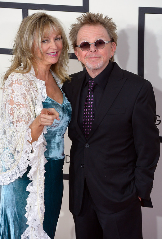 . Paul Williams and his wife arrive at the 56th Annual GRAMMY Awards at Staples Center in Los Angeles, California on Sunday January 26, 2014 (Photo by David Crane / Los Angeles Daily News)
