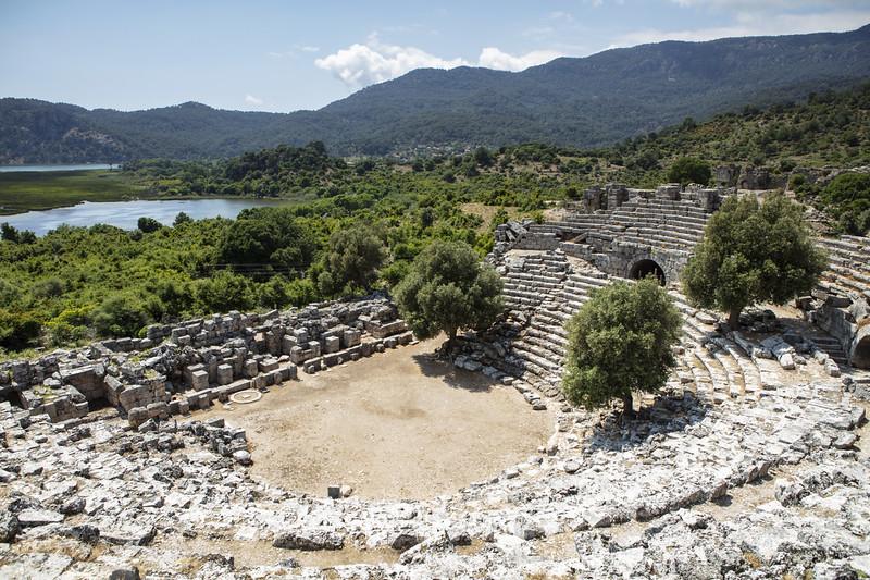 Ancient City of Kaunos near Dalyan Turkey