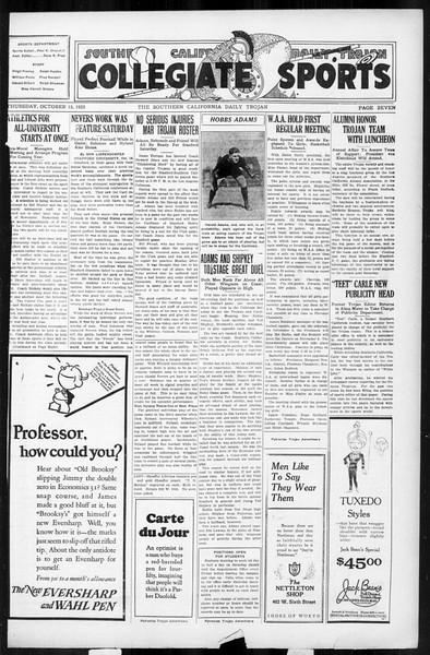 Daily Trojan, Vol. 17, No. 22, October 15, 1925