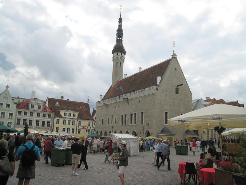 An open market in one of the many sqaures in Tallinn, Estonia