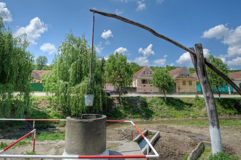 The water well in Transylvannia, Romania