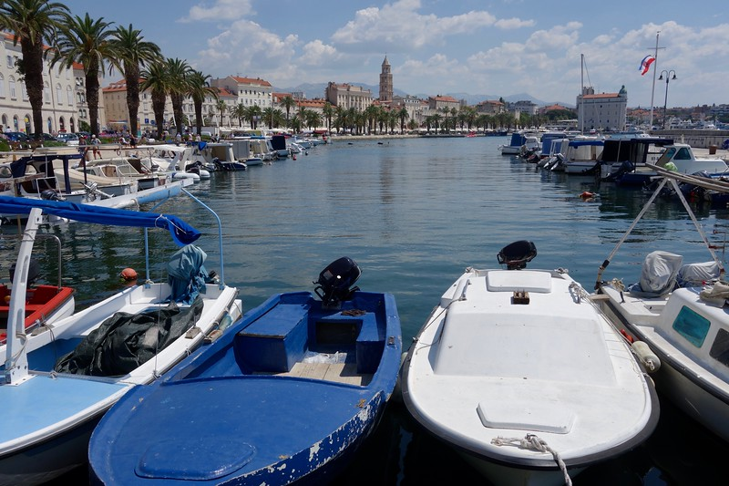 boats in Split harbor