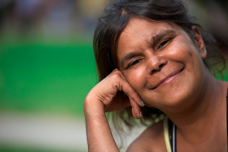 Indigenous Australian Woman smiling