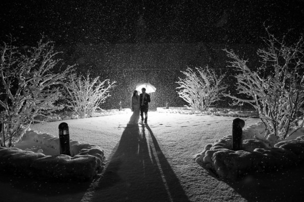 Claire + Seth | Castle Farms New Years Eve Winter Wedding