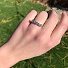 1.10ctw Old European Cut Diamond 5 Stone Band 4