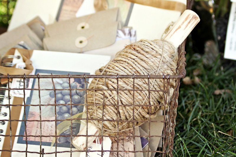Basket of Twine and Notecards