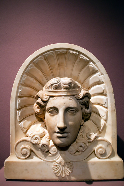 Head of the Youthful Dionysos, marble sculpture, 2nd century, Pergamon Museum, Berlin, Germany