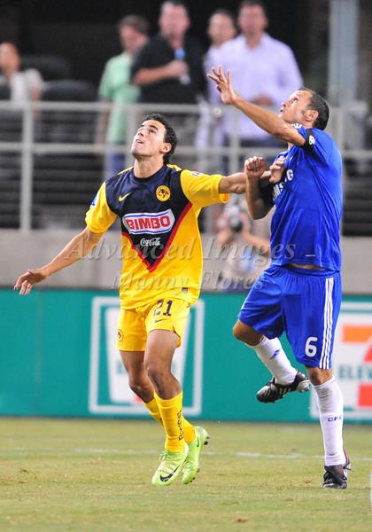 July 26 2009 World Football Challenge - Chelsea FC v Club America: #6 Ricardo Carvalho of FC in action at the Cowboys Stadium in Arlington, Texas.Chelsa FC beats Club America 2-0.