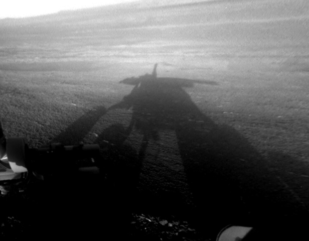 . FILE - This Dec. 4, 2012 image provided by NASA shows a shadow of NASAís Opportunity rover on the Martian surface. (AP Photo NASA)