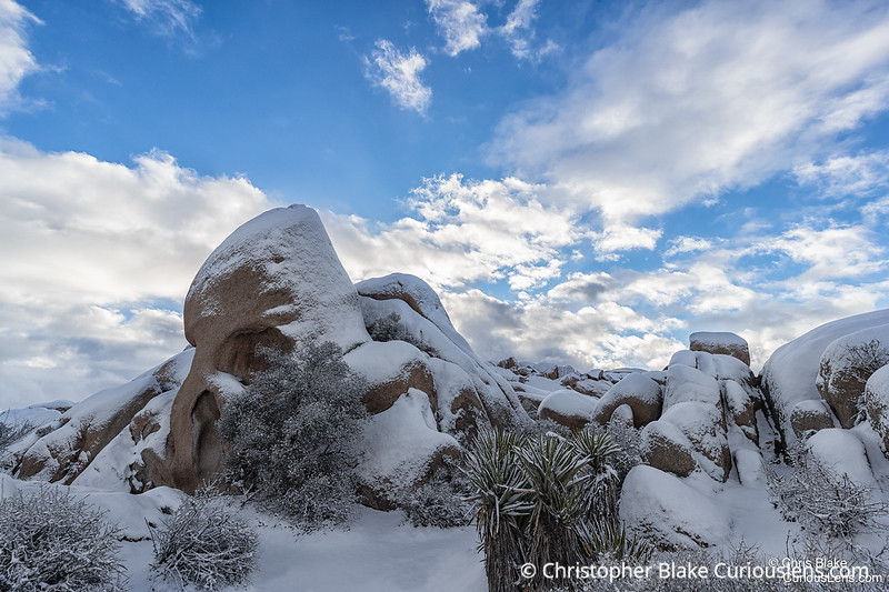 Skull Rock and Snow