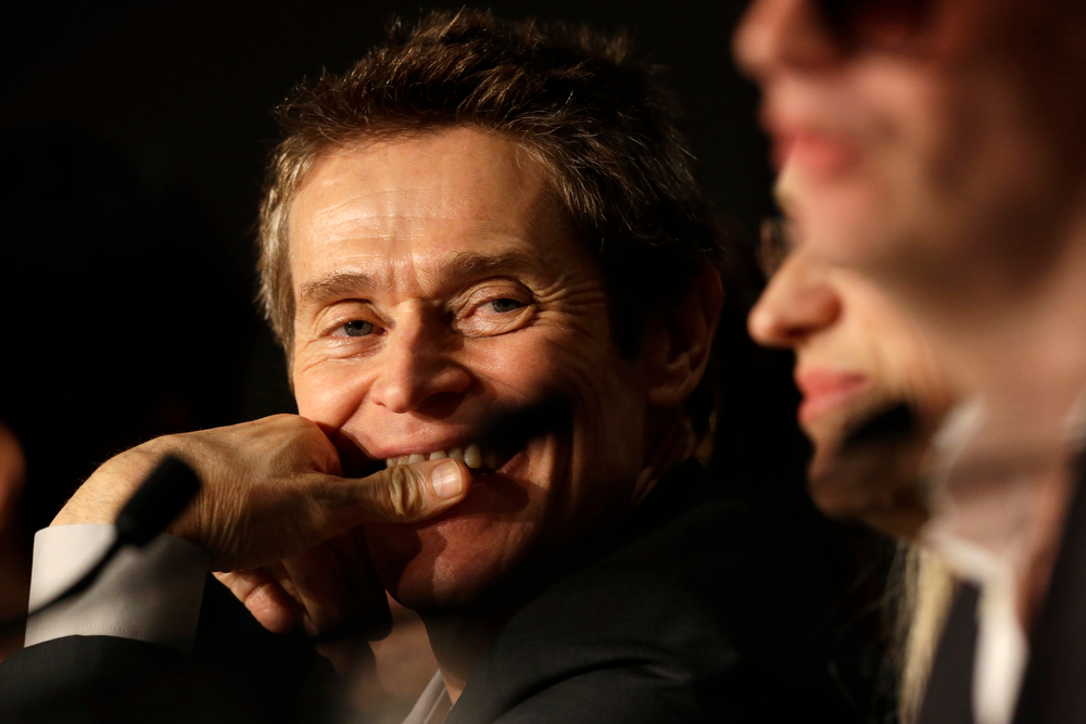 . Jury member Willem Dafoe during a press conference for the members of the jury at the 67th international film festival, Cannes, southern France, Wednesday, May 14, 2014. (AP Photo/Thibault Camus)