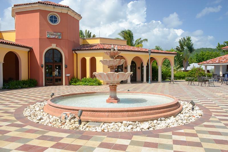 Water fountain near Bayside restaurant