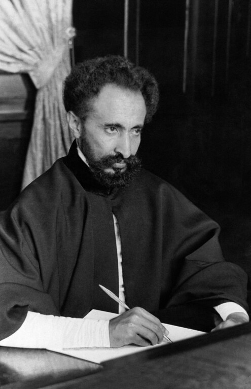 . 1935: Haile Selassie I. The Emperor of Ethiopia, Haile Selassie I at home working at his desk in April 1935. (AP Photo/Alfred Eisenstaedt)