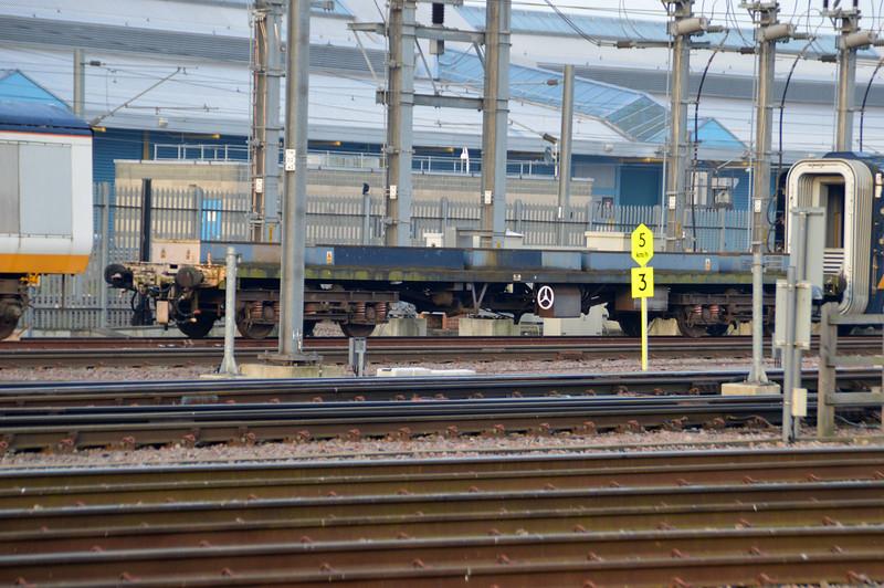 Eurostar Barrier Wagon 96384 seen at Temple Mills  11/10/15.