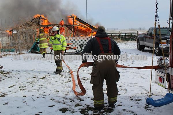 1/31/18 - Leslie barn fire, 3589 Hull Rd