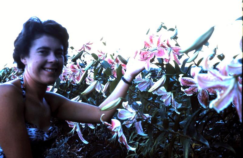1961-2-19 (10) Mary with Liliums @ Kalarama.JPG