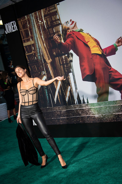 """HOLLYWOOD, CALIFORNIA - SEPTEMBER 28: Stephanie Cayo attends the premiere of Warner Bros Pictures """"Joker"""" on Saturday, September 28, 2019 in Hollywood, California. (Photo by Tom Sorensen/Moovieboy Pictures)"""