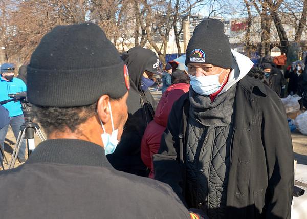 Rev Jesse L. Jackson, Sr visit Chicago's Tent City 12252020