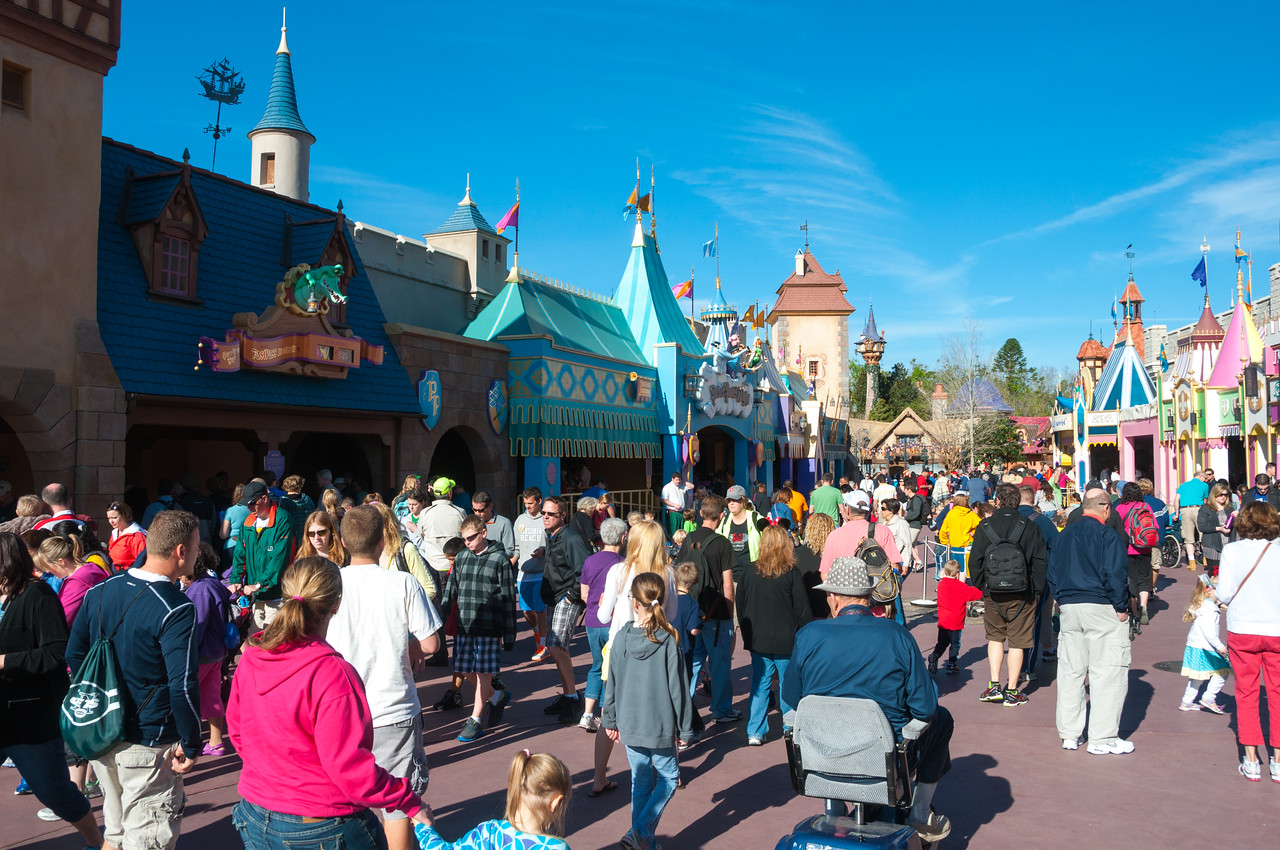 Spring Break Walt Disney World - Fantasyland Crowds