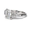 3.43ctw Emerald Cut Diamond 5-Stone Ring by Leon Mege, GIA F SI1 0