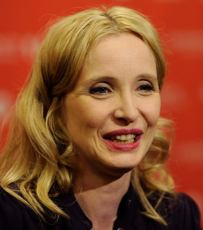 ". Julie Delpy, a cast member, co-writer and director of ""2 Days in New York,\"" is interviewed at the premiere of the film at the 2012 Sundance Film Festival in Park City, Monday, Jan. 23, 2012. (AP Photo/Chris Pizzello)"